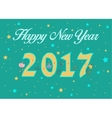 Happy New Year 2017 Floral decor vector image