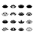 Lotus flower icons set vector image