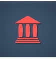 red bank or greek colonnade icon with shadow vector image