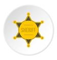 Sheriff badge icon flat style vector image