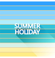 Summer holiday vintage on light sea vector image