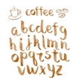 Watercolor hand drawn font vector image