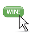 Win Button Click vector image