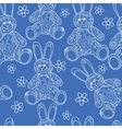 Seamless pattern with buny toys vector image vector image