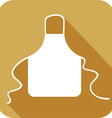 Kitchen Apron Icon vector image vector image
