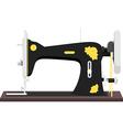 vintage sewing machine vector image vector image