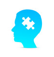 head puzzle brain on the white background vector image