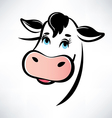 happy cow portrait outlined symbol vector image