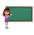 Cut kid with blackboard vector image