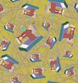 sewing machine seamless pattern vector image