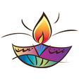 Indian diwali lamp vector image