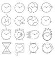 icon set clock vector image vector image
