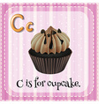 Flashcard letter C is for cupcake vector image