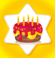 birthday iced cake vector image