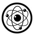 Atom button on white vector image