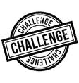 Challenge rubber stamp vector image