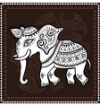 Elephant Indian style Decorative vector image