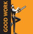 good work man vector image