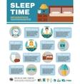 Infographic Sleep Time vector image