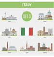 Italy cities vector image
