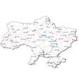 Ukraine Black White Map vector image