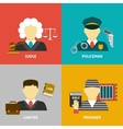 Profession flat avatar icons vector image vector image