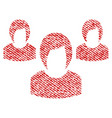 woman group fabric textured icon vector image