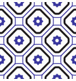 geometric mediterranean blue and white rhombus vector image