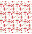 Egg with red bow seamless pattern vector image