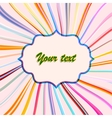 retro background for your text vector image