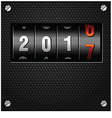 2017 New Year Analog Counter vector image