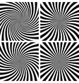 Set of Spiral backgrounds vector image