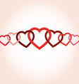 hearts connected vector image vector image