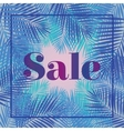 Palm leaf Sale Web banner or poster for e vector image vector image