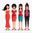 cute women avatar icon vector image
