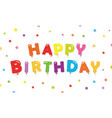 happy birthday festive background banner template vector image