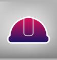 hardhat sign purple gradient icon on vector image