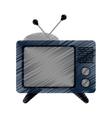 Isolated retro tv device design vector image