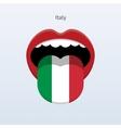 Italy language Abstract human tongue vector image