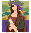 Mona Lisa pirate vector image