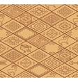 Seamless navajo pattern with rhombus Line vector image