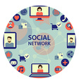 Social network emblem vector image