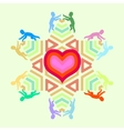 symbol of love and unity with heart star and vector image