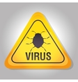 system data detection virus warning vector image