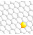 White 3D spheres and a yellow one vector image vector image