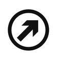 Arrow in round emblem vector image