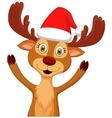 Cute cartoon deer waving vector image vector image