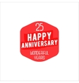 25 Anniversary badge sign and emblem in retro vector image