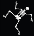 dancing skeleton vector image