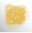 Gold sparkles on white EPS 10 vector image vector image